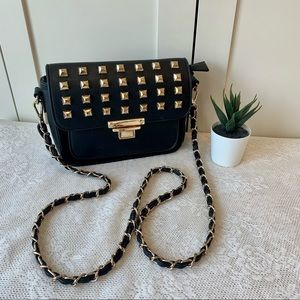 MMS crossbody bag with gold studded details